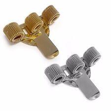 triplo metallo PORTAPENNE CON TASCA CLIP - ideale per Doctor Who - oro e argento