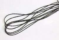 Echt Natur Schwarz Roh Diamant Kette Edelsteinkette Top Qualität Collier 45 cm