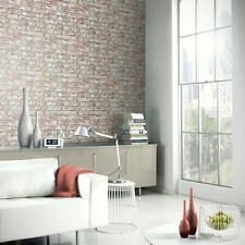 RUSTIC BRICK WALLPAPER - NATURAL - ARTHOUSE 889604 WALL NEW
