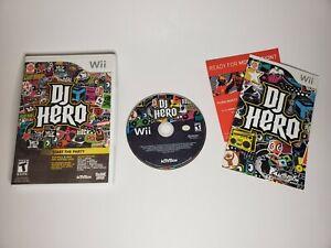 DJ Hero - Nintendo Wii Game - Complete & Tested