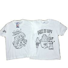 NWT Youth Size Medium Disney Ariel & Menchie's Color Your Own Tee T-shirt