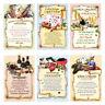 50 Geburtstagskarten mit Urkunde Glückwunschkarte Geburtstag Karten Set