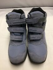 LL BEAN Women's 8M Light Blue/Gray Suede Winter 3 Strap Snow Hiking Boots 05455
