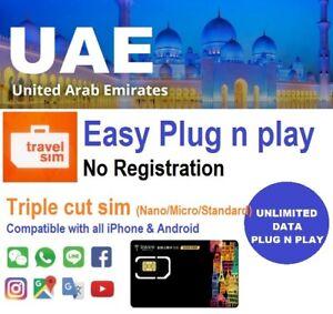 United Arab Emirates Travel - Etisalat 7 days 1.5GB data SIM card + UNLIMITED 3G