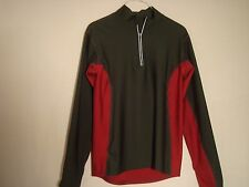 Under Armour 1/2 Zip Light Weight Running Top Slate Gray Red Long Sleeve Medium