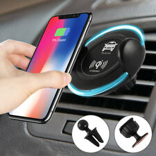 Qi Wireless Car Charger Air Vent Mount Holder Fast For Samsung Note 8 Iphone 8/x