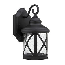Outdoor Light Fixture Wall Lighting Exterior Black Metal Sconce Porch Exterior