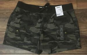 Sonoma Camo Short Ultra Comfort Waistband Shorts Mid Rise Straight Hip Thigh