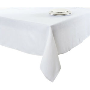 Basket Weave Tablecloth in White by Saro