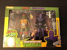 NECA TMNT Teenage Mutant Ninja Turtles Raphael vs Foot Soldier Figure 2 Pack