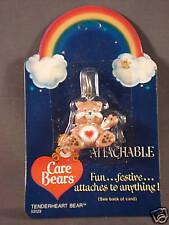 VINTAGE CARE BEARS Tenderheart Bear PVC KEYCHAIN FIGURE