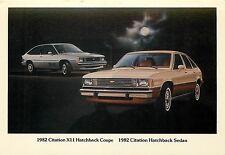 1982 Chevrolet Citation Xii Hatchback Coupe & Sedan Adv P/C