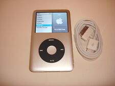 APPLE  IPOD  CLASSIC  6TH GEN.  CUStOM  SILVER/BLACK  80GB...NEW  BATTERY...