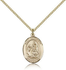 """Saint Catherine Of Siena Medal For Women - Gold Filled Necklace On 18"""" Chain ..."""