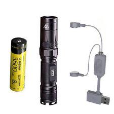 Combo: Nitecore EC23 Flashlight w/1x NL1835HP Battery & Folomov A1 Charger