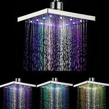 6'' Alcachofa de Ducha Cabeza Baño con LED 8 Color Cambiante Según Temperatura