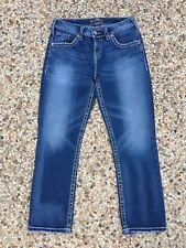 SILVER Jeans Women's Size W30 NATSUKI CAPRI Cropped Mid Rise Thick Stitch