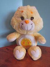 """13"""" Plush yellow sunshine Heart Care Bear"""