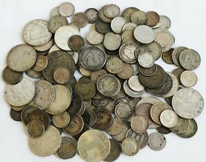 11.9 Troy Oz .640 Silver Content Coins Mixed Lot Asst Dates Grades Countries