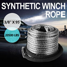 "3/8"" x 95' Synthetic Winch Line Cable Rope 20500LBs ATV SUV Recovery Rope New"