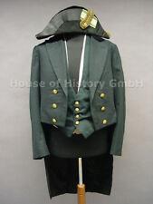 Sajonia: Uniform oberfinanrat Oschwald, dos spitz, frac, chaleco verde, chaleco blanco