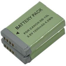 2 Battery f canon NB-13L NB13L PowerShot G5X G7X G9X G5 G7 G9 X Mark II SX720 HS