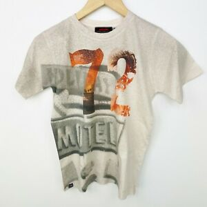Catimini Boys Size 12 Tee Top Shirt T-Shirt Short Sleeve Summer Beige Orange