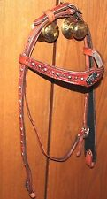 Manta Leather Western headstall, hand made in  USA, Custom color/dimension
