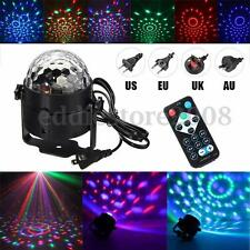 LED RGB Magic Ball Crystal Effect Stage Light DJ Disco Party Lighting +IR Remote