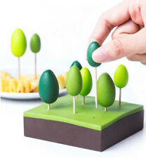 QUALY FOREST PARTY FORKS WITH BOX TOOTHPICK REMOVABLE CUTE LOVELY HOME LIVING