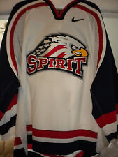 2002-2003 Ohl Chl Saginaw Spirit Frank Burgio Nike Game Worn Hockey Jersey-Loa