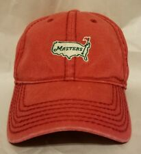 Masters Caddy Hat Red Undated Golf American Needle Heavy Stitch Cap Rare