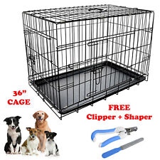 """Heavy duty 36"""" Folding Pet Dog Puppy Cat Training Cage Crate Carrier"""