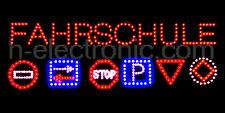 LED Schild Fahrschule Verkehrszeichen Reklame Blink XXL