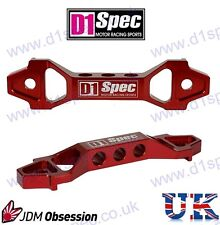 D1 SPEC UNIVERSAL RACING CAR BATTERY HOLDER TIE DOWN BRACKET RED SHORT TYPE JDM