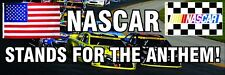 NASCAR STAND FOR THE ANTHEM bumper stickers! 9X3 Inch. Boycott Ban Football NFL