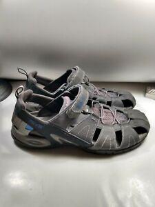 Teva 4154 Dozer Closed-Toe Sandals Men's sz 14 Gray Blue Shocpad