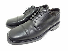 MICHAEL SHANNON OXFORDS CAP TOE BLACK LEATHER MEN'S SHOES MADE IN ITALY 9.5 M