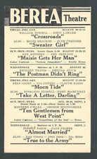 1942 BEREA THEATRE OH SHOWING CROSSROADS W/W POWELL & H LAMARR ETC