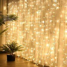 300 LED de luces de hadas Cortina USB + Batería Cadena Carámbano Navidad Boda Fiesta Jardín
