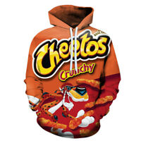 Crunchy Cheetos Snacks Fan Men Women Funny Pullover Hoodie Cosplay Costume Tops