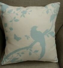 REVERSIBLE Laura Ashley Oriental Garden Duck Egg Blue Fabric Cushion Cover