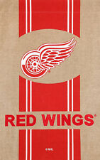 """New listing Detroit Red Wings Burlap Licensed Nhl House Flag Licensed 2 Sided Hockey 28""""x44"""""""