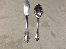 "Sugar Spoon & Butter Knife "" Silver Fashion "" Holmes & Edwards Deepsilver"