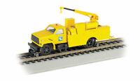 BACHMANN 16903 HO CONRAIL Hi-Rail Equipment Truck w Crane Yellow w DCC FREE SHIP