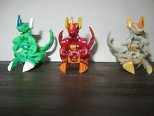 Bakugan Helix Dragonoid Green Ventus 720G, Red Pyrus 600g,  Haos 630g lot of 3