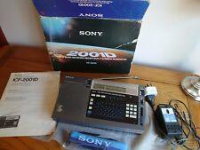 RARE Sony ICF-2001D Portable World Band SW/MW/LW/FM Receiver Shortwave Radio*VGC