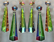 10 COLOUR AB CHANDELIER CUT GLASS CRYSTALS ICICLES SUN CATCHERS PRISMS DROPLETS