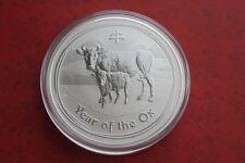PERTH MINT AUSTRALIA LUNAR II 2009 OX 2 OZ BULLION .999 PURE SILVER COIN RARE