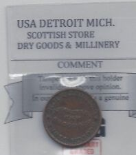 **Detroit Mich**Coin Mart Graded, Scot. Store Dry Goods & Millinery Token